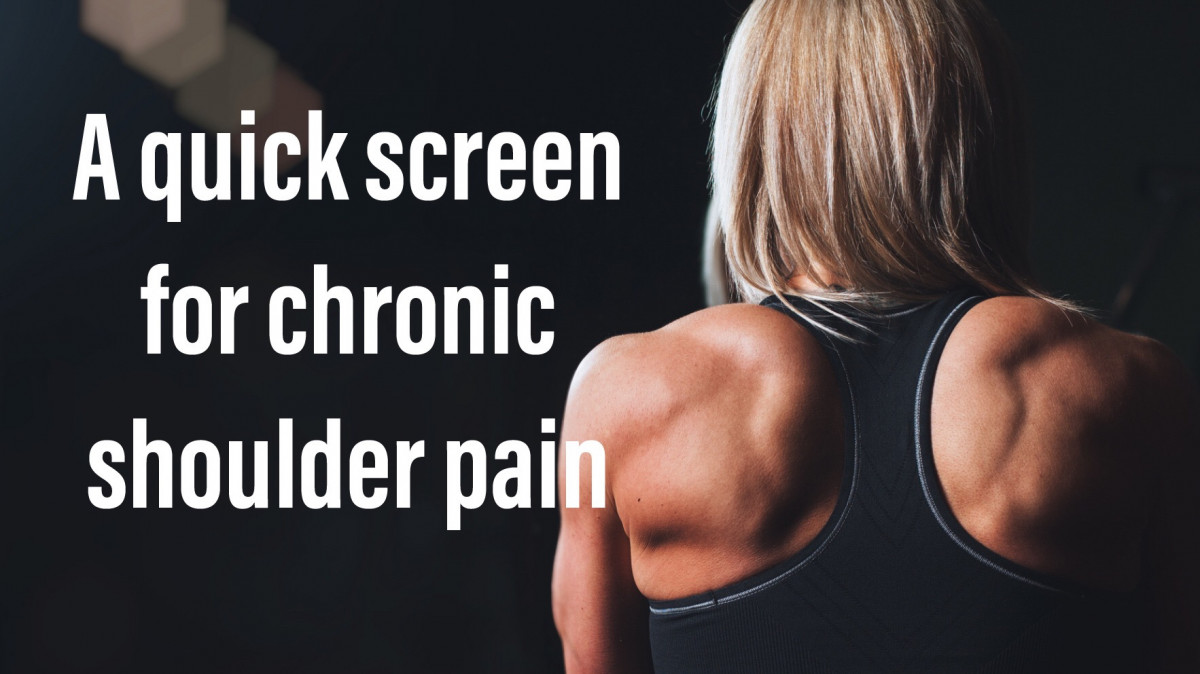 Chronic shoulder pain, a quick test to find the cause