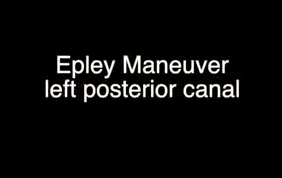Left Epley Maneuver